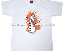 INSTANT DOWNLOAD - Iron on transfer printable Tshirt design - Pillow Design -Tote Design  - Frozen Olaf Iron on - M226