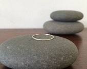 sterling silver thin line textured ring / meoMADE