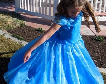 New Cinderella dress. Soft, stretchy and not itchy! Machine washable! Petticoat is sold seperately
