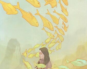 School Break - Illustration, Art Print