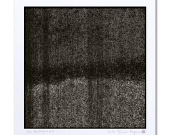 "Abstract Art Print, Black and White Art ""Bretagne #1"" Black art, Contemporary Art, Limited Edition, Abstract Giclee Print Art, Digital Art"