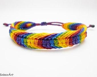 Rainbow bracelet, LGBT bracelet, wristband, rainbow, surfer bracelet, friendship bracelet, rainbow colours, summer bracelet, beach bracelet