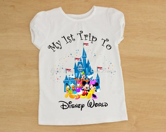 My First Disney Trip Sirt, Disney World Shirt, Minnie Shirt, Mickey Mouse Shirt, Disney Trip Shirt, Personalized Disney Shirt, Mickey Mouse