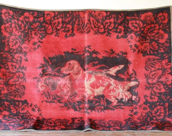 Antique Carriage Blanket, Stroock Lap Blanket, Early 1900's