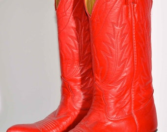 70's Red Cowboy Boots
