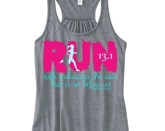 13.1 Run with Endurance - Iron On - Printable File -  The Race that is Set Before Us- Hebrews 12 1