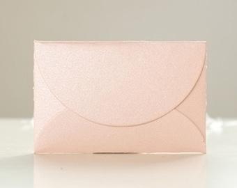 Glossy Mini Envelopes - Pink (10 pcs) Small Paper Envelope Wedding Invitation C0076