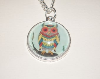 Colourful Owl Necklace