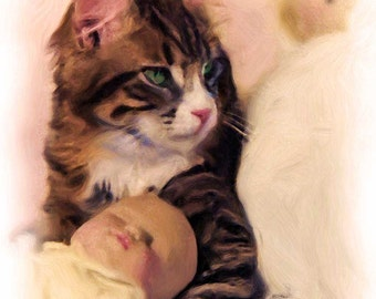 KITTEN With BABY DOLL  Hannah is a shelter kitty from Massachusetts.  She now spends her life being cuddled by all who love her.