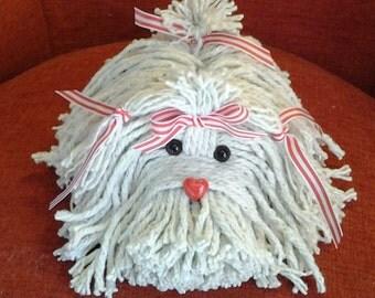 Valentine's Heart Nose Mop Dog - Havanese - Shih Tzu - Maltese - Lhasa Apso - Bichon- Coton De Tulear - Tibetan Terrier - Heart Puppy Dog