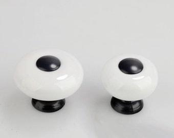 Lavender Glass Knobs / Dresser Knobs / Drawer Knobs Pulls