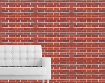 RED BRICK WALL - Self adhesive removable wallpaper by GraphicsMesh
