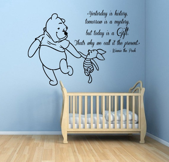 Winnie The Pooh Wall Decals Piglet Quotes by WallDecalswithLove