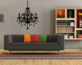 Chandelier Wall Decal Sticker Art - Any Colour or Size (#19)