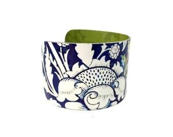 Boho Fashion - Aluminum Cuff Bracelet - William Morris - Boho Chic Bracelet - Victorian Bracelet - Botanical Bracelet - Sku R16-003
