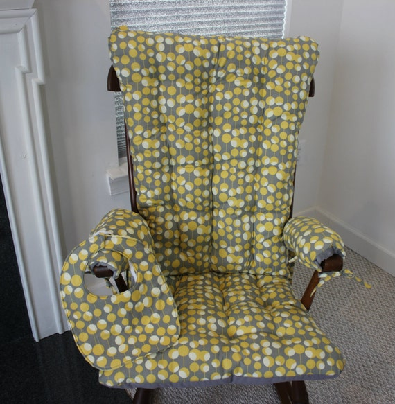 Items Similar To Martini Mustard Rocking Chair Cushions On Etsy
