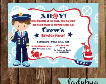 Nautical Boy Invitation