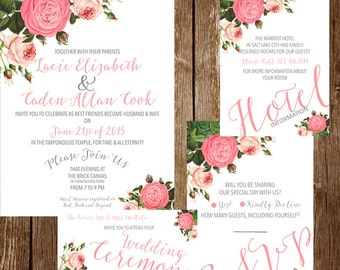 Vintage Floral Wedding Package