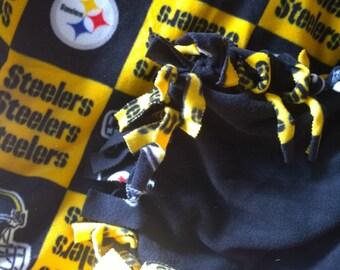 NFL Steelers No Sew Fleece Blanket