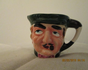 """English """"Toby"""" Creamer  Hand Painted"""