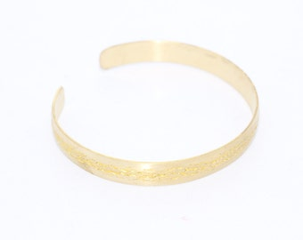 Handmade Raw Brass Cuff Bracelet Bangle ( Width 7,7 mm ) Raw Brass Cuff Bracelet Blank - raw brass cuff , CF4