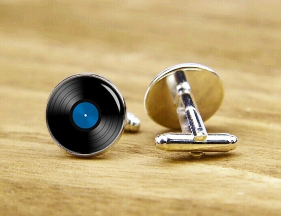 record cuffLinks, vinyl record cufflinks, wedding cufflinks, custom musical cufflinks, personalized cufflinks, tie clip or a matching set,