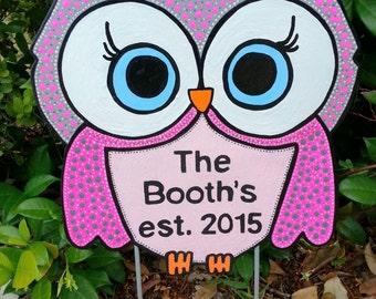 Owl Yard Stake, Metal Art, Own Decoration, Owl Art, Metal Owl, Owl Garden Decoration, Painted Owl