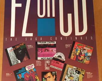Frank Zappa Poster Return of FZ on CD Rykodisk