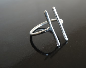 EQUAL RIGHTS ring - Adjustable Equal Rights Sterling Silver ring - Handmade 925 silver equal symbol ring - LGBT support ring