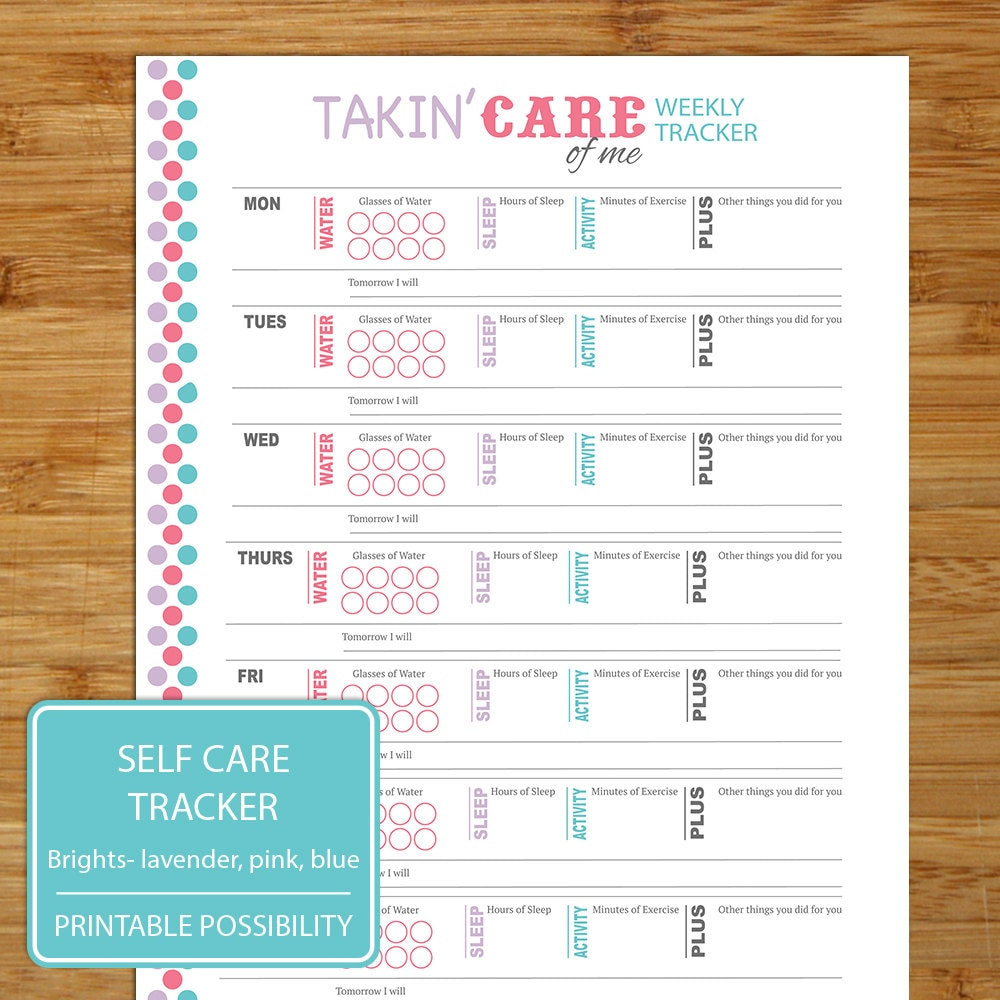 Goal Planning and Tracking Worksheet Printable 11 Pages – Self Care Worksheet