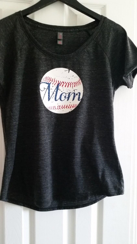 Baseball Mom Shirt Distressed Baseball Shirt By Youresuchatees