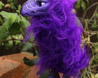 Purple Diwi OOAK Art Doll dragon bird