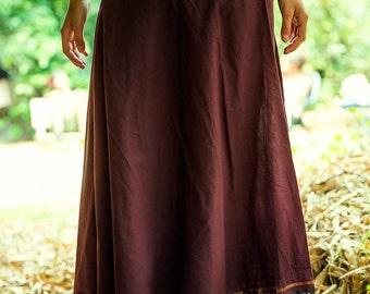 Wrap Long Skirt, Gypsy Skirt, Tribal Skirt, Gypsy Clothing, Funky Clothing, Hippie, Fairy, Bohemian, Dance Skirt, Cotton Skirt, One Size