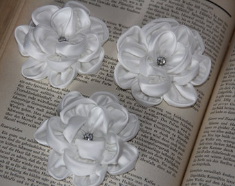 Ivory hair flowers Ivory hair clips Bridal floral hair piece Wedding flowers Ivory hair clips Ivory flower Set of hair flowers