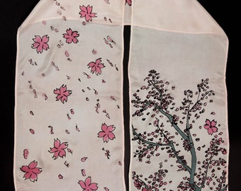 Cherry Blossoms Silk Scarf