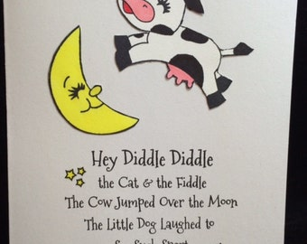 Hey Diddle Diddle Baby Greeting Card