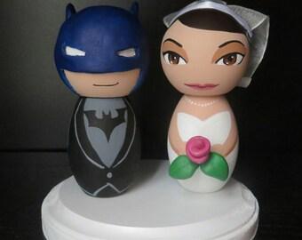 Mr. and Mrs. Batman Wedding Cake Topper