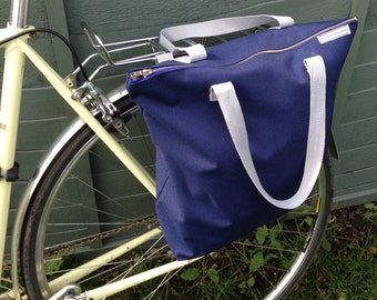 Waterproof Bicycle pannier bag & shoulder tote - kordura