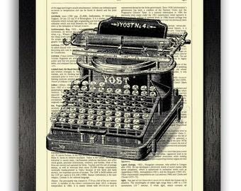 VINTAGE TYPEWRITER Art Print, Typewriter Wall Decor, Dictionary Artwork Prints, Best Friend Gift, Vintage Poster Art, Home Office Decoration