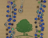 JewelryOs® Necklaces- Blue Pearl - Giving Back-The Family Place- Natural -Gift For Mom-Sister-Girlfriend Gift-Nonprofit-Bride- Vermont Craft