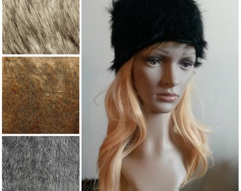 Faux fur Russian hat Shapka