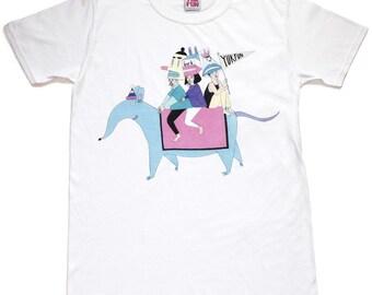 ON SALE! Elephant shrew T-shirt, kawaii tshirt, pastel kei top, fairy kei tshirt, weird tshirt, cute womens tshirt, sale tshirt