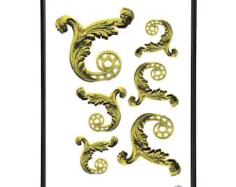 Versailles Palace Gates Filigree Pop Art Print