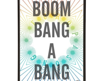 Boom Bang A Bang Eurovision Song Contest Pop Art Print Eurospeak Lulu
