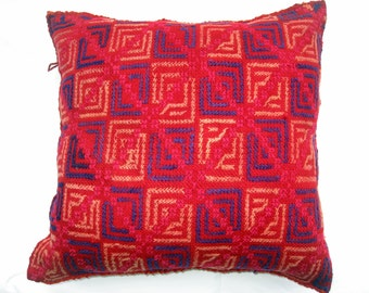 Vintage Hand Embroidered Pillow Cover #18