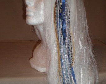 Baby Blue Long Feather Hair Clip