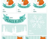 Fox Gift Tags - 100% donated - PDF Instant download