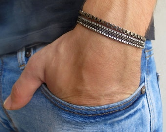 Men's Bracelet - Silver Chain Bracelets - Men's Jewelry - Jewelry For Men - Bracelets For Men - Gift for Him - Men's Gifts
