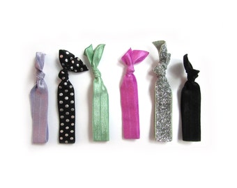 The Girl's Best Friend Hair Tie Package - Fold Over Elastic Hair Ties - Hair Ties - Hair Ties that Double as Bracelets by Ties that Shine