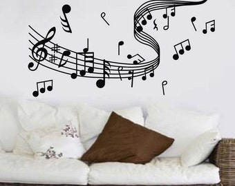 Music Wall Decal | Etsy Part 71